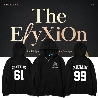 เสื้อฮูดแฟชั่นเกาหลี เสื้อแขนยาว #EXO THE EXO'rDIUM 4 (ระบุไซส์ และ ชื่อศิลปิน)