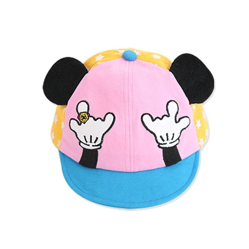 หมวกสีชมพูลายมือมิกกี้ แพ็ค 3 ชิ้น