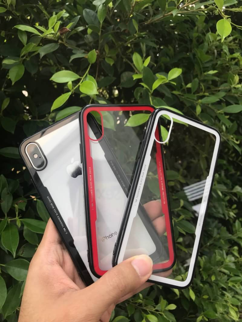 Iphone X เคสหลังแข็งขอบนิ่ม