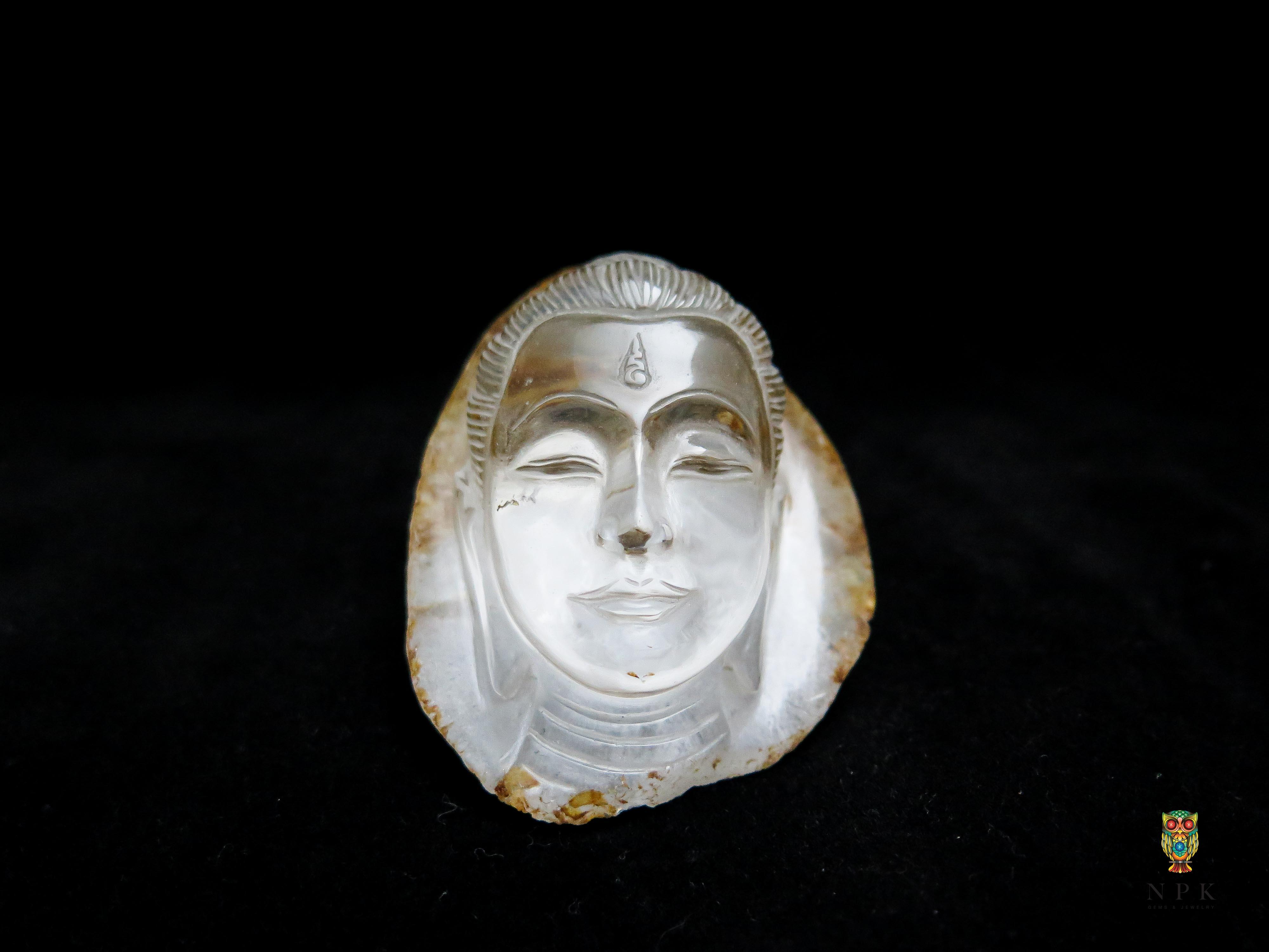 เศียร์พระพุทธรูปแกะสลักควอตซ์ (Buddha Quartz Craving )