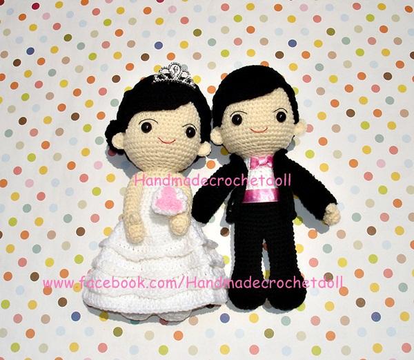 ตุ๊กตาแต่งงาน เจ้าบ่าวเจ้าสาว 9 นิ้ว แบบ4