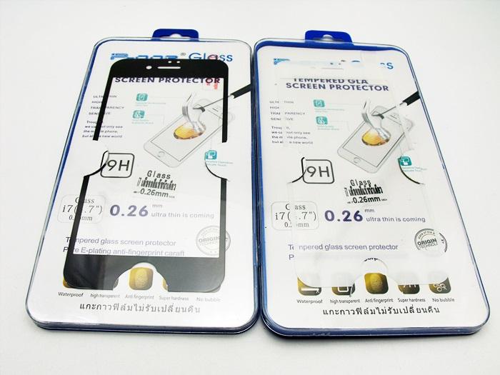 ฟิล์มกระจกเต็มจอ Iphone 7 (4.7) สีเต็มจอ