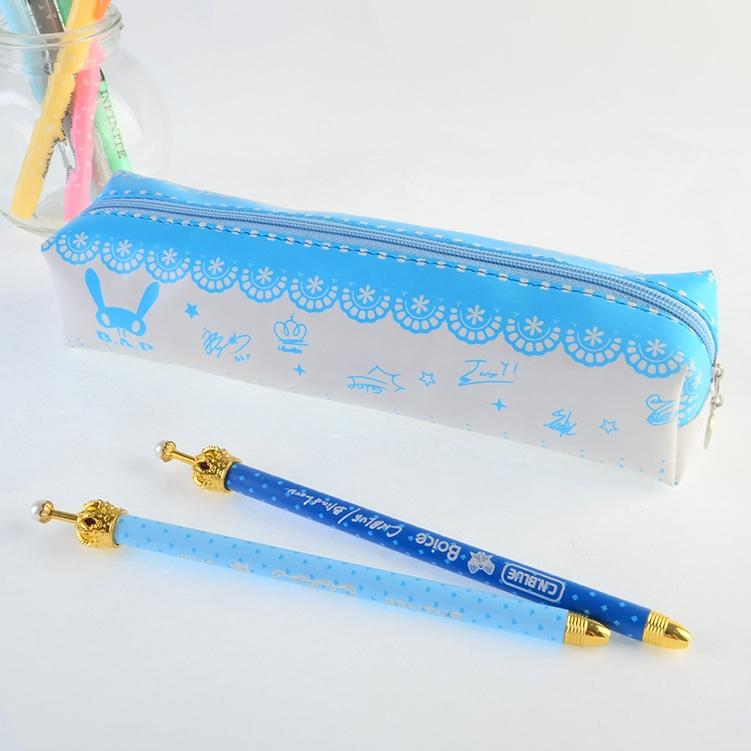 กระเป๋าดินสอ B.A.P สีฟ้า