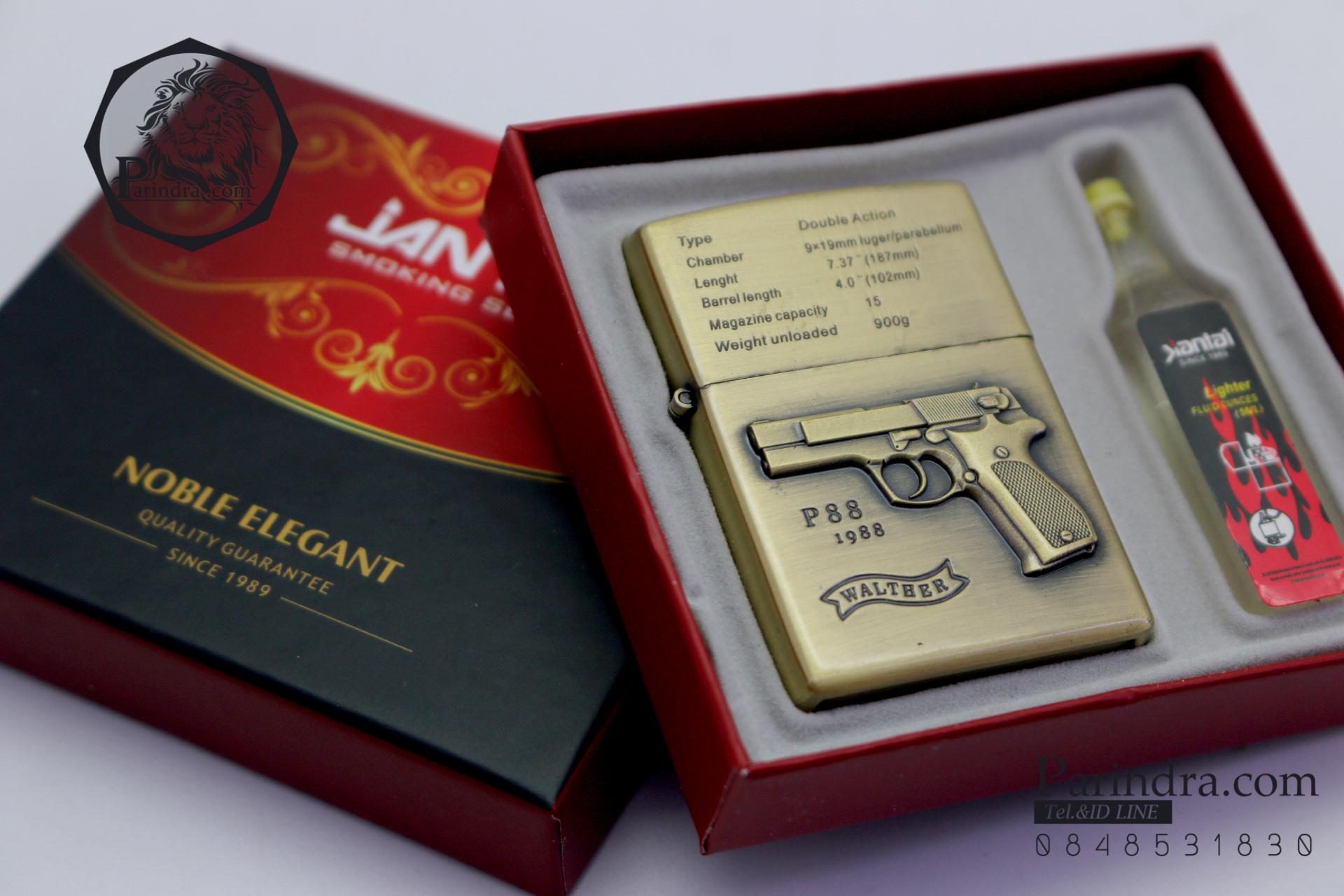 ไฟแช็คน้ำมันลาย ปืนพก Walther P88 ปี 1988 คลาสสิก