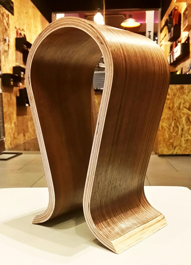 ขาตั้งหูฟัง Headphone Stand แท่นวางหูฟัง แบบไม้ดัดโค้ง ทำจากไม้ Wood