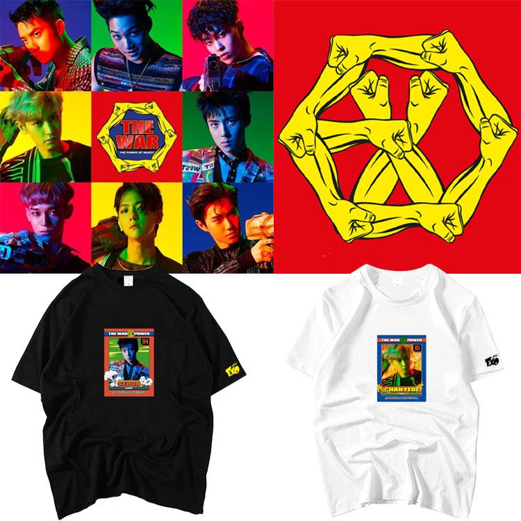 เสื้อยืด (T-Shirt) EXO - THE WAR The Power of Music (ชื่อเมมเบอร์)