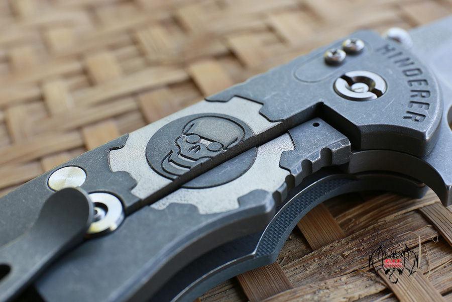 """RHK 4.0"""" Wharncliffe Working Finished M390 GearHead GreyG-10 Number18/25"""