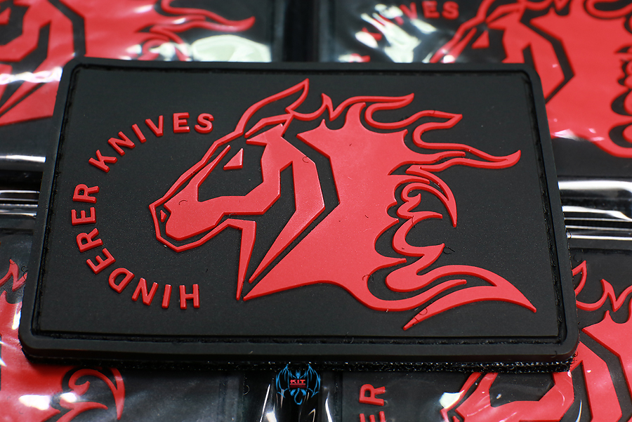 HINDERER KNIVES MORALE PATCH BLACK& RED PVC
