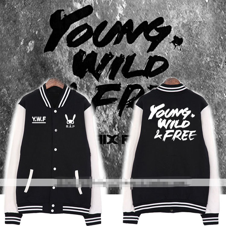 เสื้อเบสบอลแขนยาว (Jacket Baseball) BAP - YOUND WILD & FREE