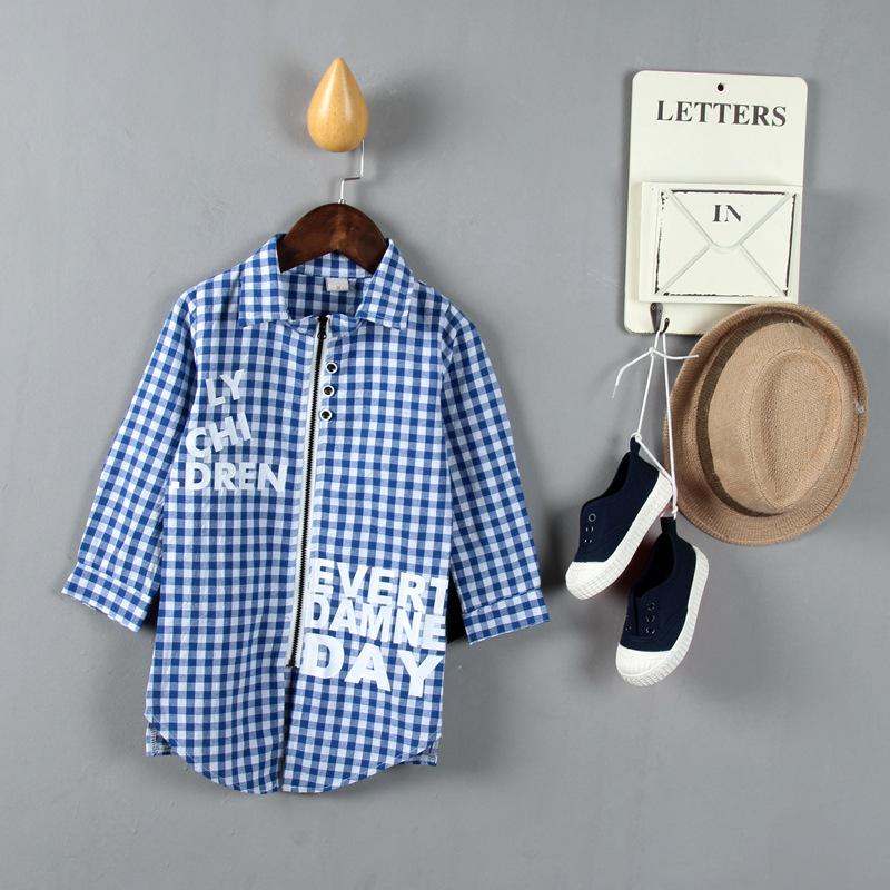 เสื้อลายสก๊อตสีฟ้า [size 1y-2y-3y-4y]