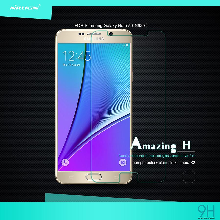ฟิล์มกระจกนิรภัย Galaxy Note 5 รุ่น Nillkin Amazin H Nanometer Anti-Explosion Tempered Glass Screen Protector