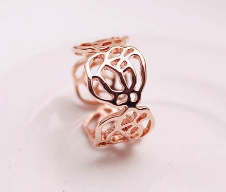 แหวนแฟชั่น Korea. ดอกไม้