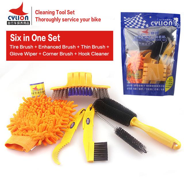 แปรงทำความสะอาด Cylion 6 ชิ้น ,6 IN 1 SETS CLEAN BRUSH SET,P02-04