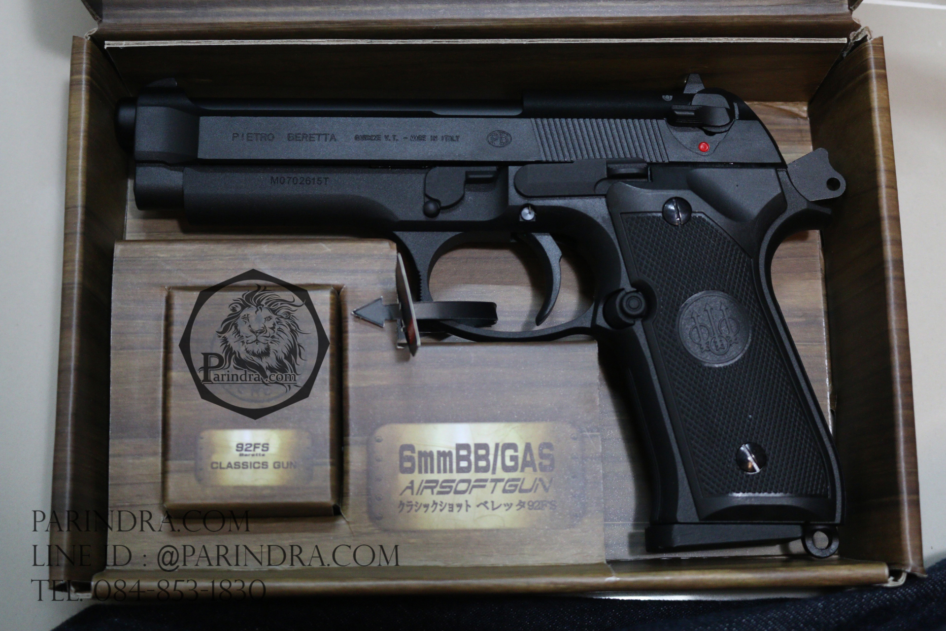 ปืน BBgun Berretta 92FS Black 6 mm. AirSoftGun