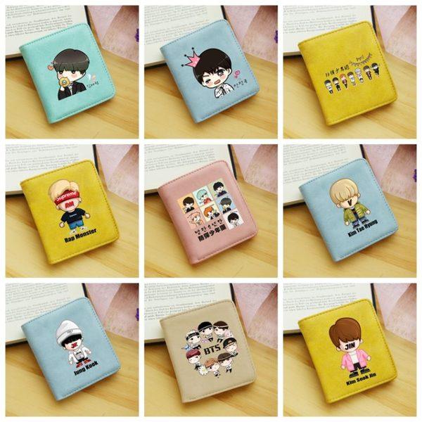 กระเป๋าสตางค์ #BTS (ระบุศิลปินที่ช่องหมายเหตุ)
