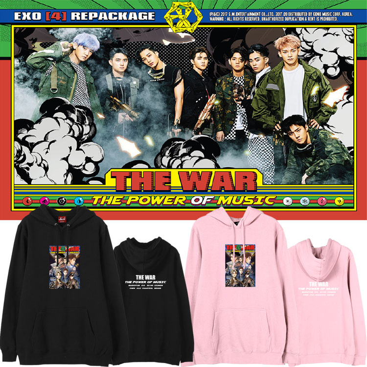 เสื้อฮู้ด (Hoodie) EXO - THE WAR The Power of Music (ver.1)