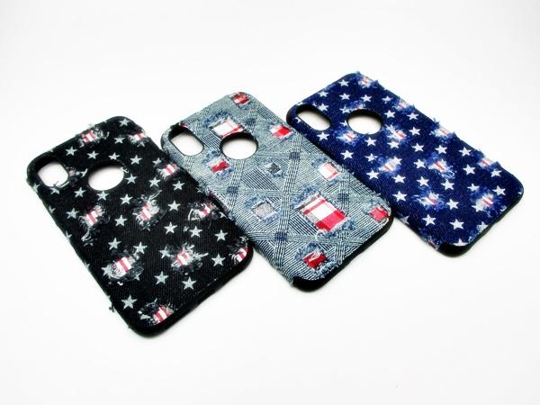 Iphone X เคสนิ่มแต่งผ้ายีนส์