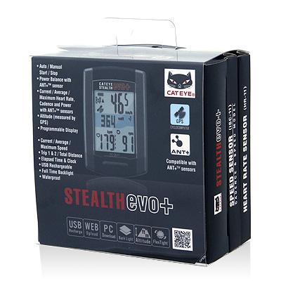 ไมล์ CATEYE STEALTH EVO+, CC-GL51KIT, W/OPTION สปีดเซนเซอร์วัดรอบขา/วัดหัวใจ