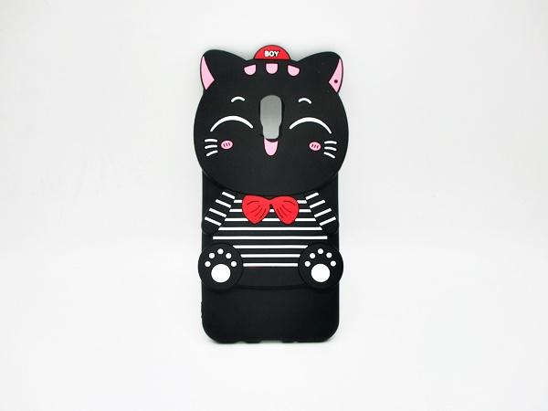 ซัมซุง (J7 Plus) เคสยาง 3Dแมวดำ