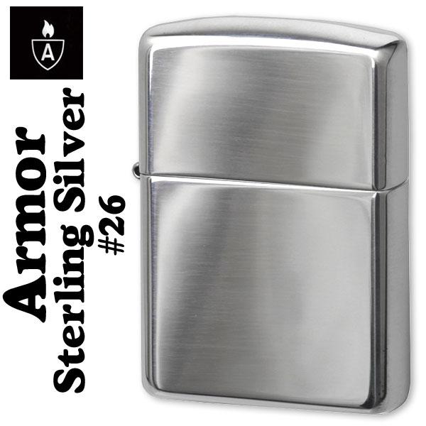 """ไฟแช็ค Zippo แท้ ฺ เคสผลิตจากเงินแท้ """" Zippo 26, Sterling Silver Lighter Armor Case"""" แท้นำเข้า 100%"""