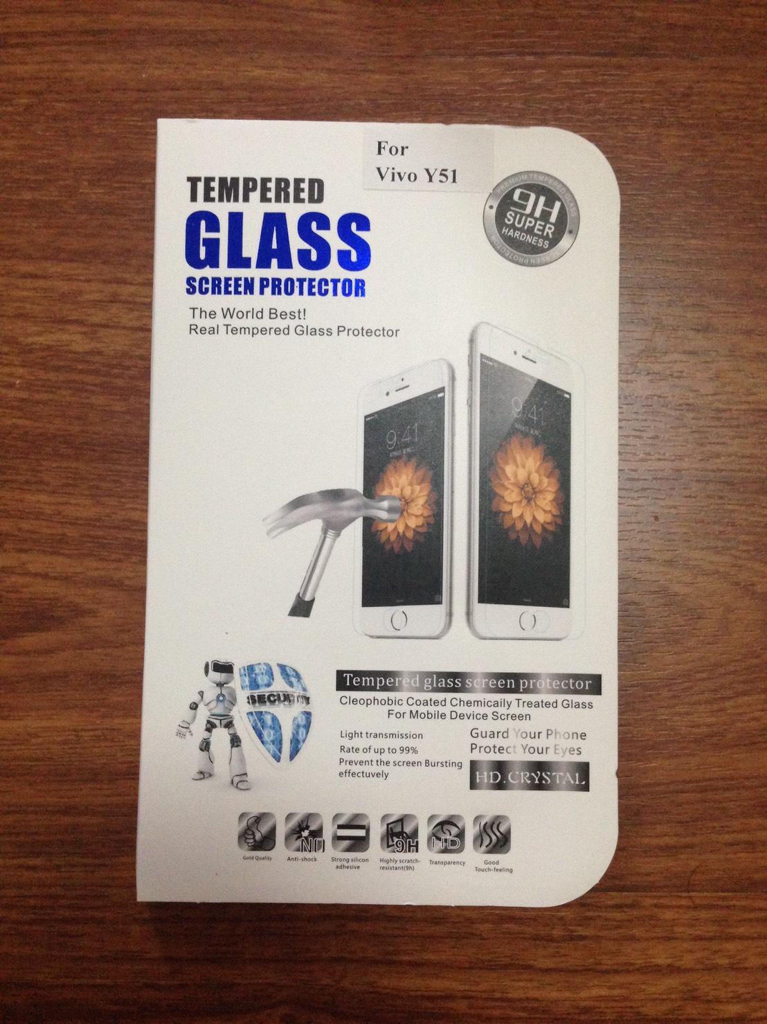 ฟิล์มกระจกนิรภัย Vivo Y51 (Temper Glass)