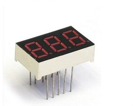 3 digit 7 segment red LED numeric