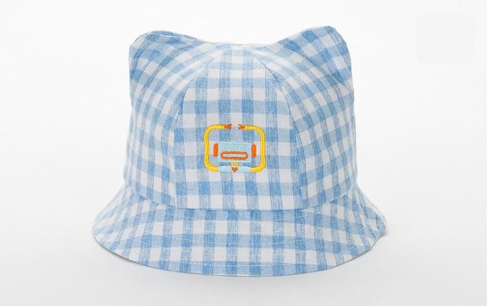 หมวกปีกลายสก็อตสีฟ้าลายหุ่นยนต์ แพ็ค 3 ชิ้น
