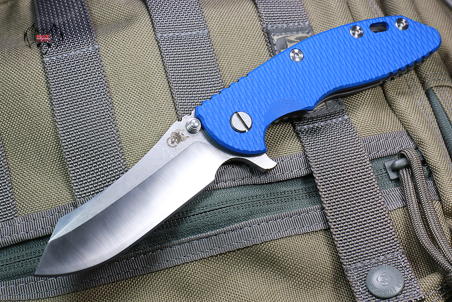 "RHK XM18 3.5"" Skinner 2-Tone Satin Blade Blue G-10"