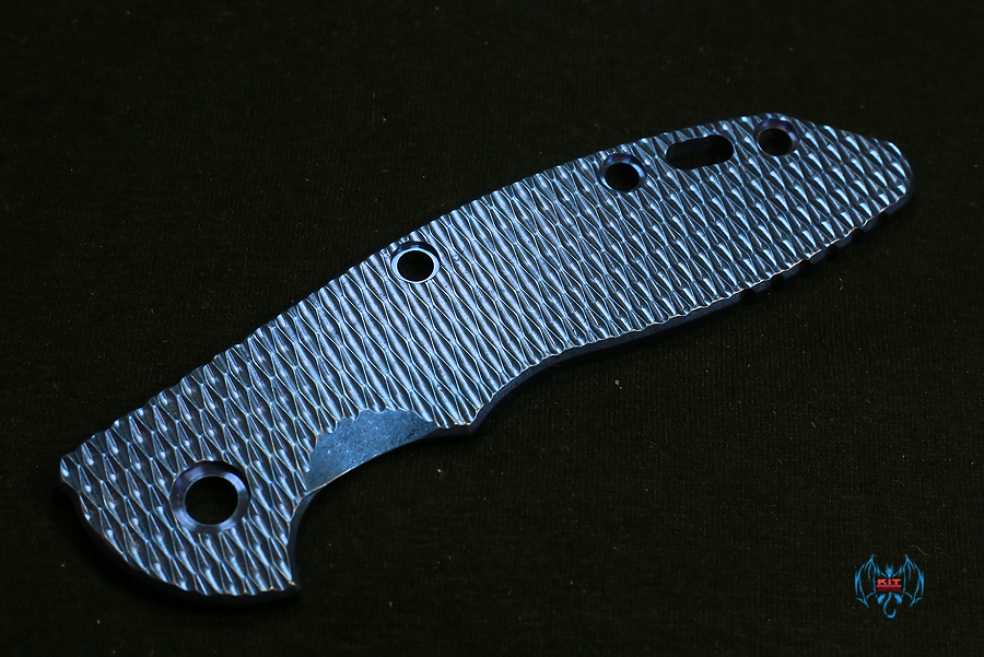 Hinderer 3.5 XM-18 TI BLue Textured HANDLE SCALE