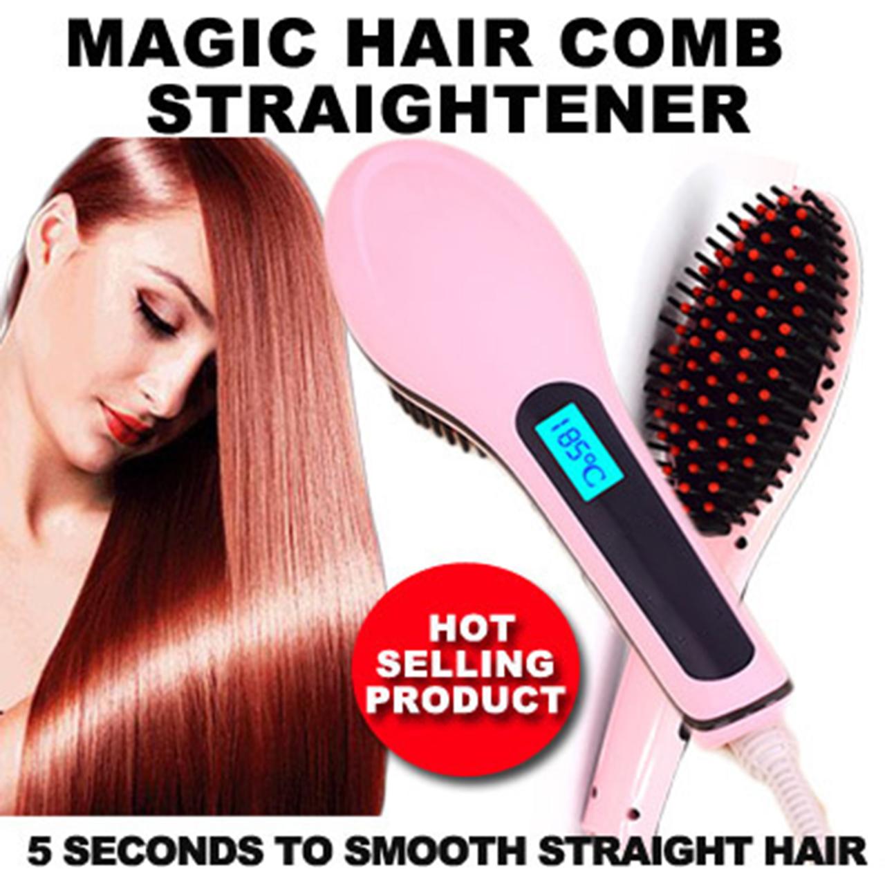 หวีผมตรงไฟฟ้า Beautiful Star Magic Hair Comb Straightener