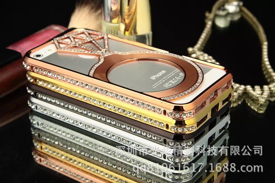 เคสไอโฟน 5/5s Shengo ลายเพชร ฝาประกบแหวนเพชร