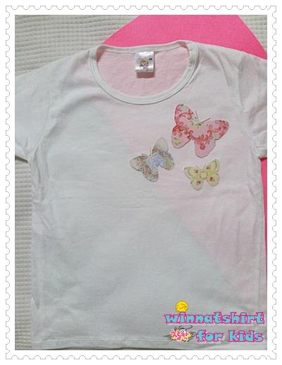 เสื้อยืดเด็ก ลายผีเสื้อ แบบที่ 2 Size M