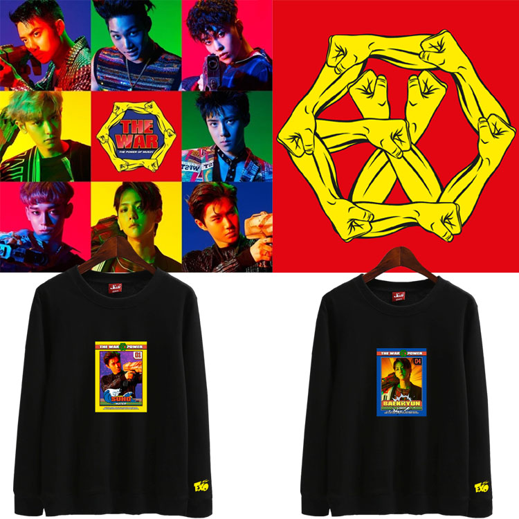 เสื้อแขนยาว (Sweater) EXO - THE WAR The Power of Music (ชื่อเมมเบอร์)