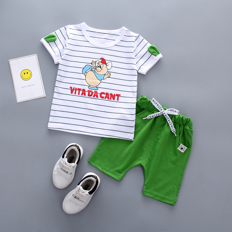 ชุดเซตเสื้อลายหนู+กางเกงสีเขียว แพ็ค 4 ชุด [size 6m-1y-2y-3y]