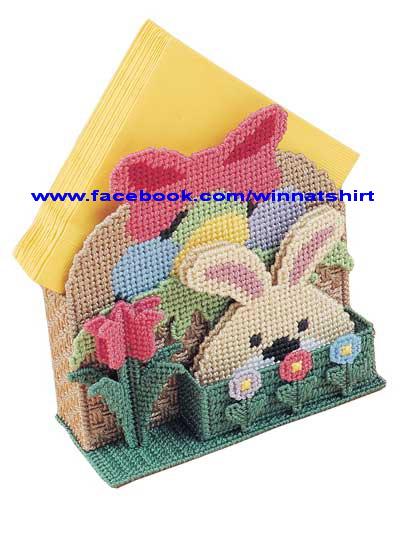 ชุดปักแผ่นเฟรมที่ใส่กระดาษโน้ตลายกระต่าย