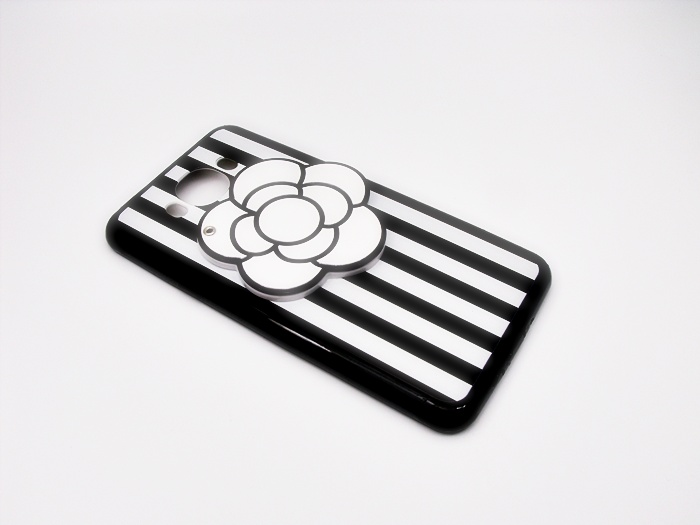 เคสดอกไม้ซ่อนกระจกขอบนิ่ม ซัมซุง เจ 7(version 2)