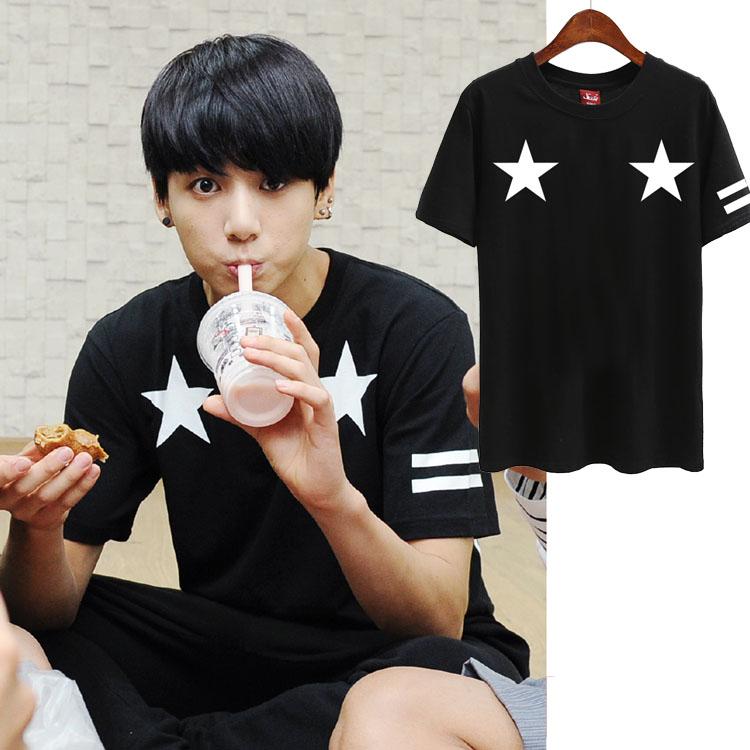 เสื้อยืด (T-Shirt) ลายดาว แบบ BTS