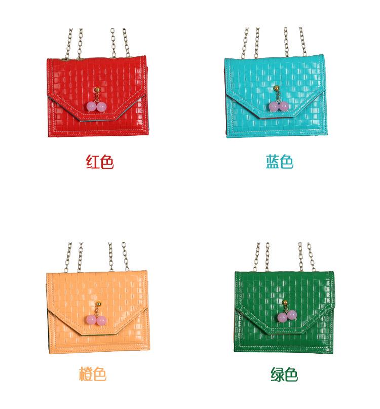 กระเป๋าถือหนังลายตาราง แพ็ค 5 ใบ [สี ฟ้า-แดง-ส้ม]