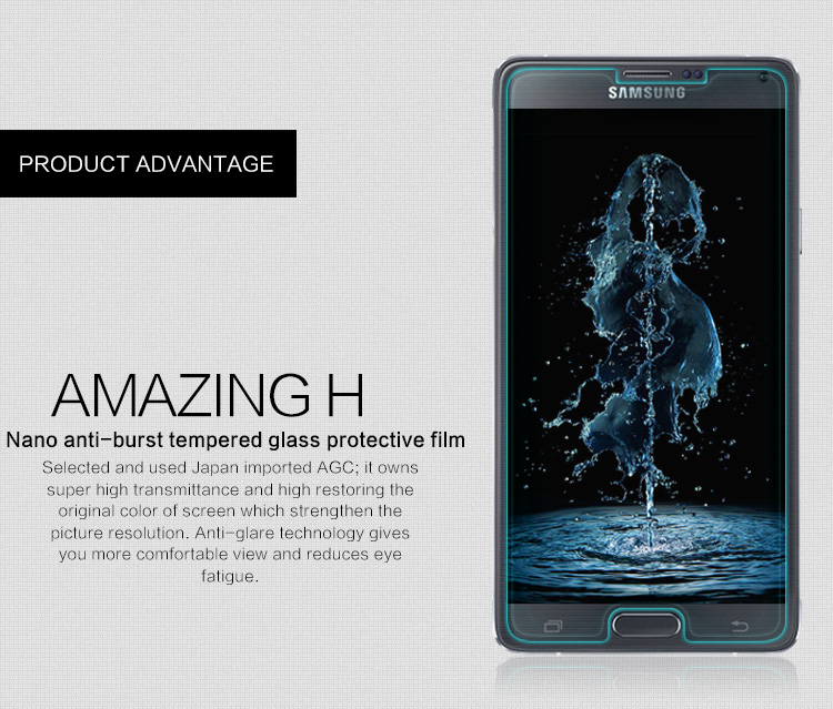 ฟิล์มกระจกนิรภัย Galaxy Note 4 รุ่น Nillkin Amazin H Nanometer Anti-Explosion Tempered Glass Screen Protector