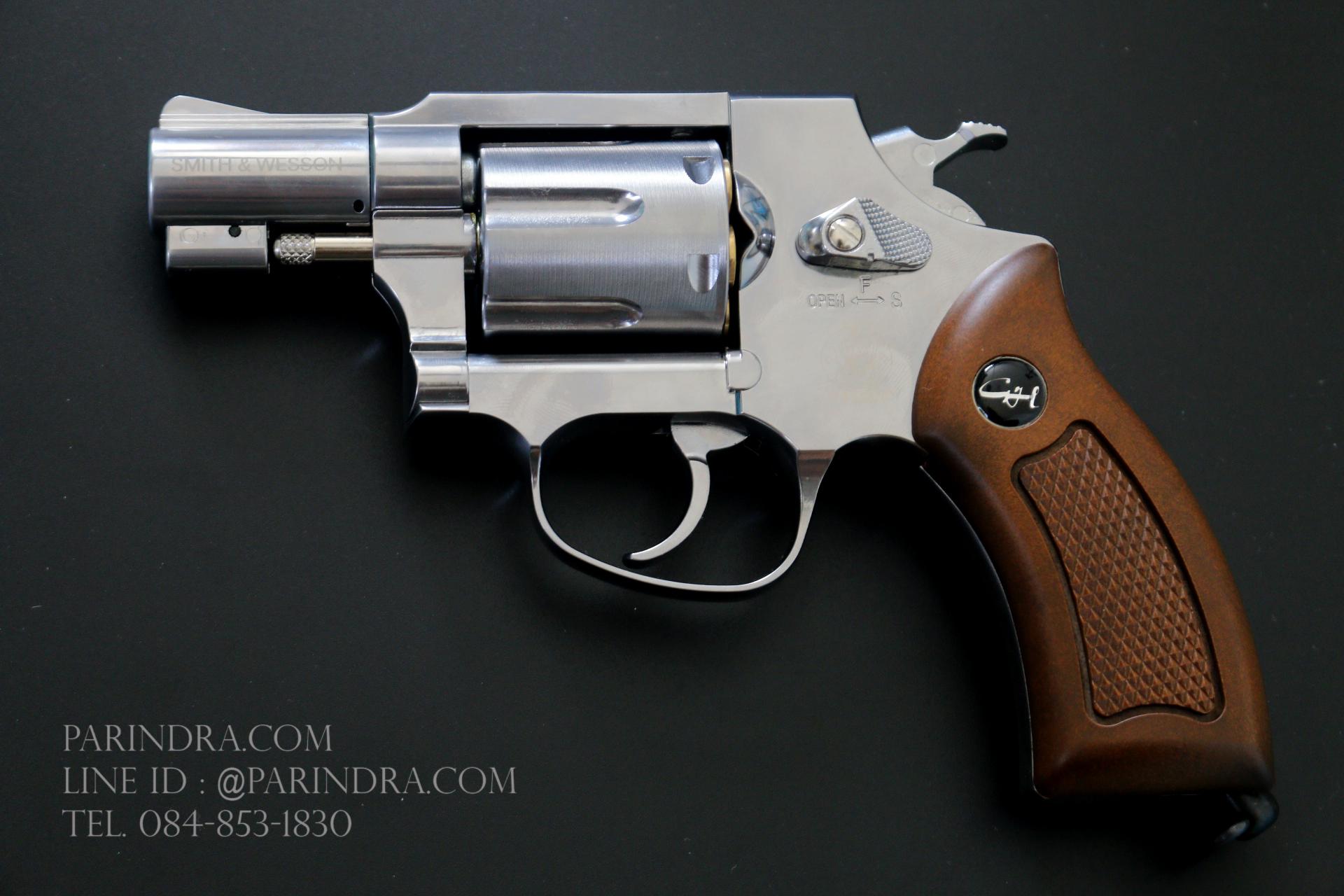 """ปืน BBgun Smith&Wesson 2.5"""" Revolver Silver ยี่ห้อ Gun Heaven ไต้หวัน"""