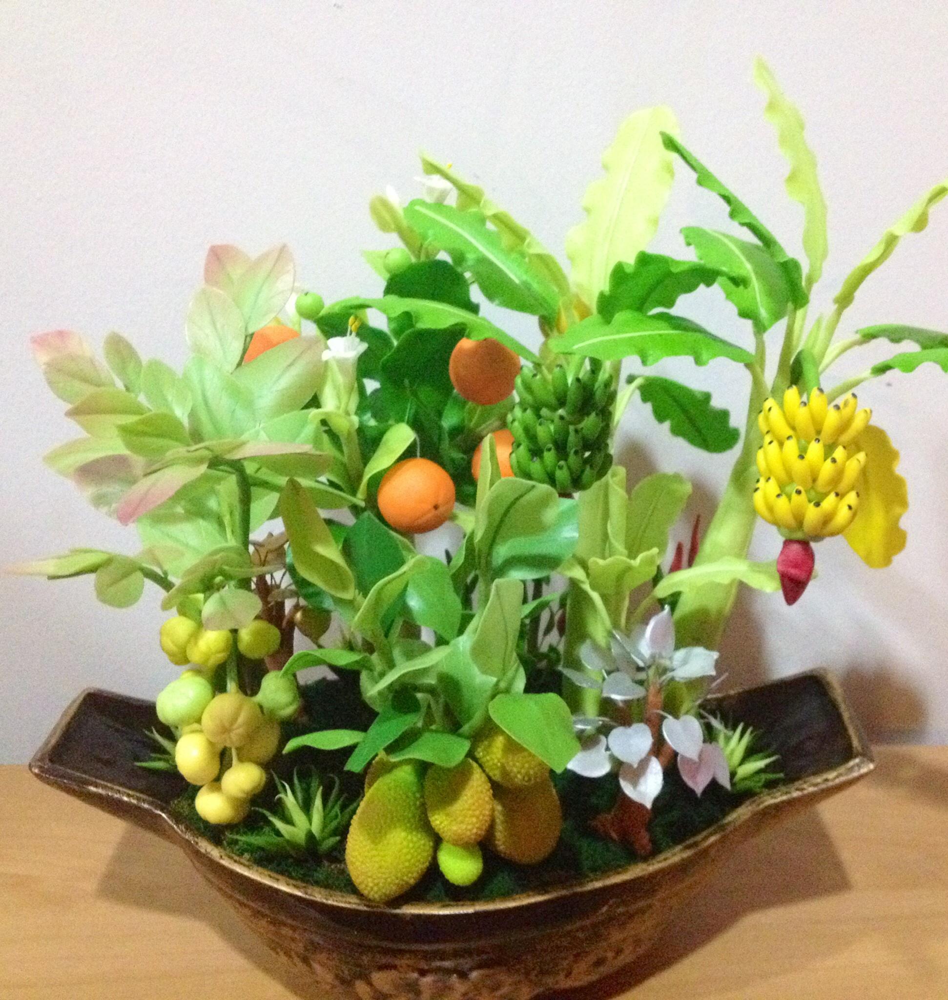 C011-สวนต้นไม้มงคล มะยม ส้ม ขนุน กล้วย_ไซร์ 4-6 นิ้ว