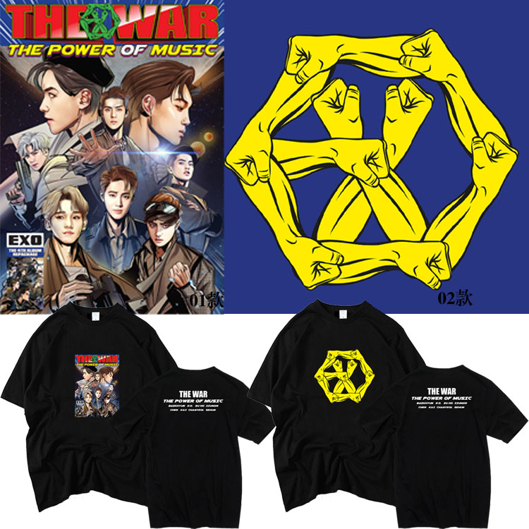 เสื้อยืด (T-Shirt) EXO - THE WAR The Power of Music