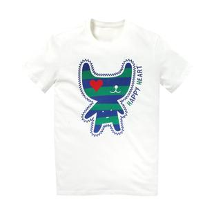 เสื้อลายการ์ตูน แบบ JYJ (สีขาวลายขวาง)