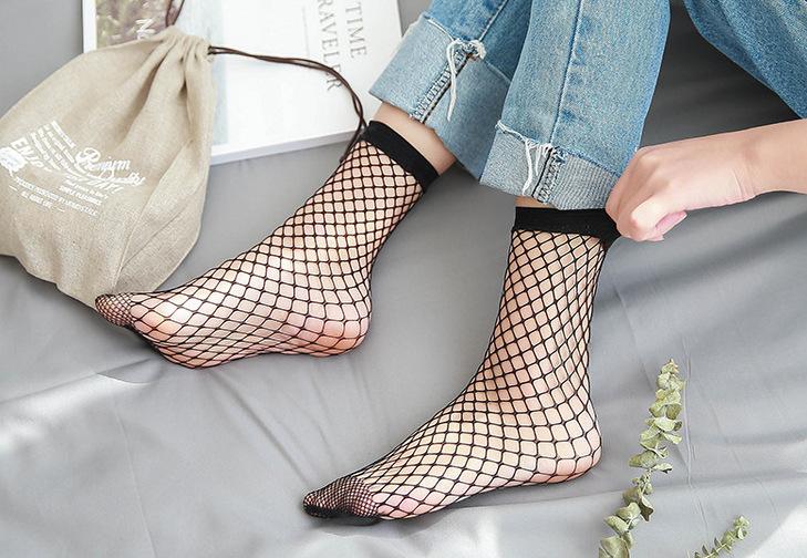 [พร้อมส่ง] SK7372 ถุงเท้าตาข่าย สไตล์เกาหลี Net Sock * Korean Styles