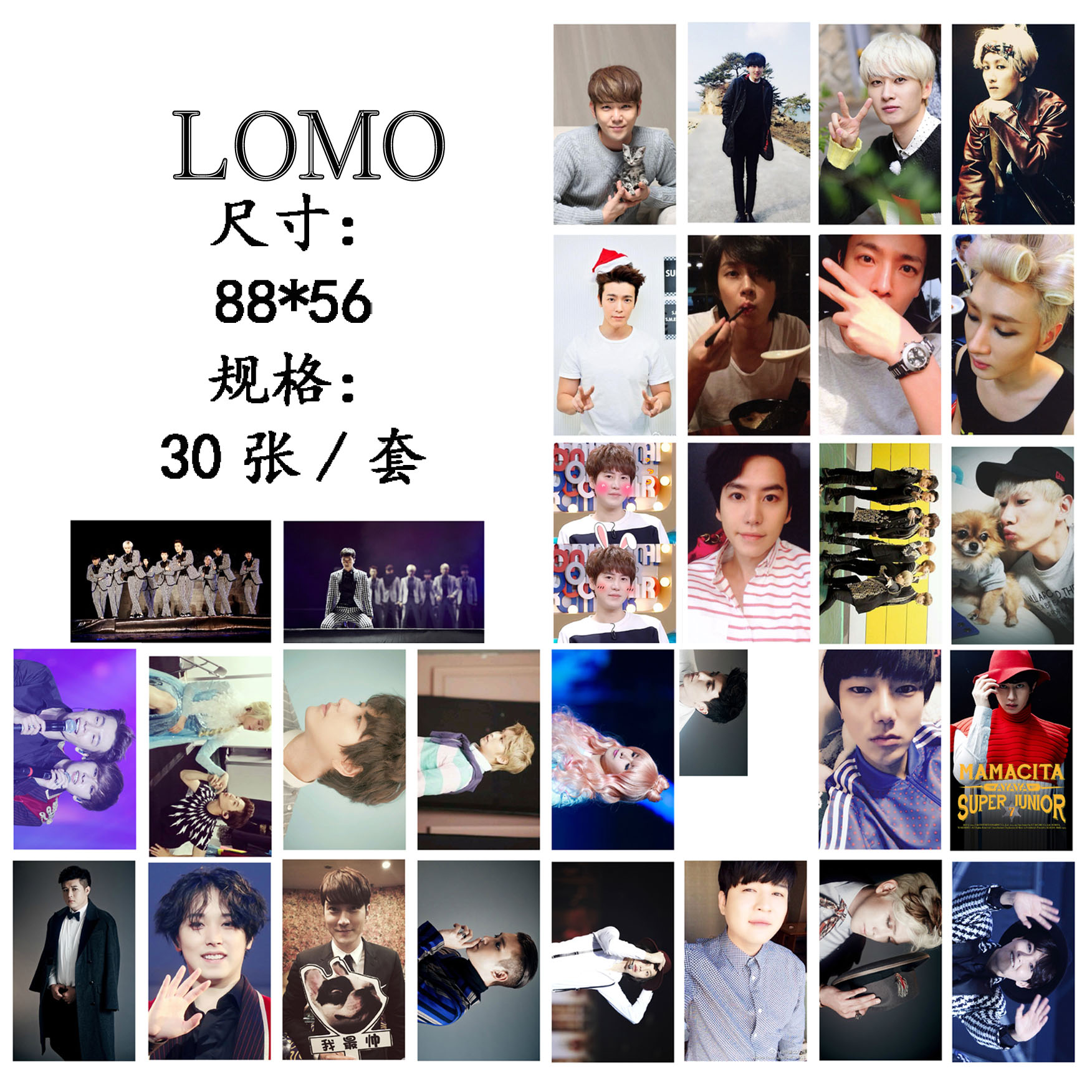 ชุดรูป LOMO SJ SUPER JUNIOR (30รูป)