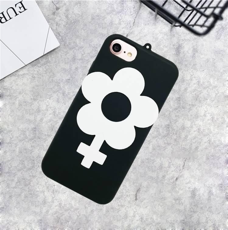 เคสซิลิโคนดอกไม้ ไอโฟน 7 4.7 นิ้ว