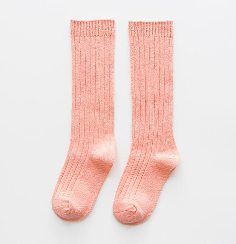 ถุงเท้ายาว สีส้ม แพ็ค 10 คู่ ไซส์ M (ประมาณ 2-4 ปี)