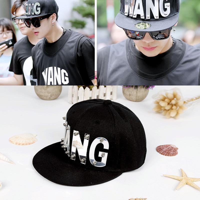 หมวกแฟชั่นเกาหลี Got7 สีดำ (PYM133)