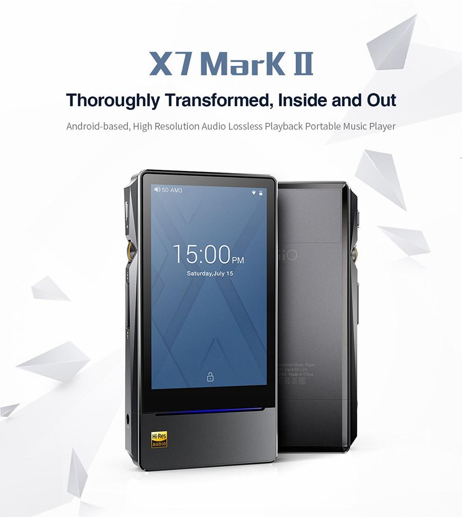 Fiio X7 Gen2 X7ii X7MarkII เครื่องเล่นเพลงความละเอียดสูง ระดับท๊อป รองรับ Bluetooth Wifi ระบบแอนดรอย
