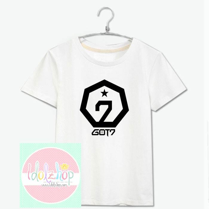 เสื้อยืดแฟชั่น GOT7 สีขาว - ดำ